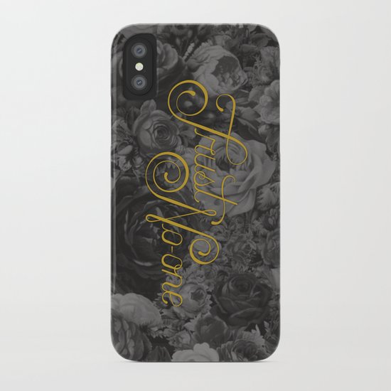 Trust No-one Lettering iPhone Case