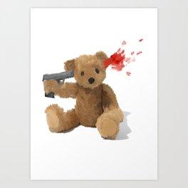 Suicide Teddy Art Print