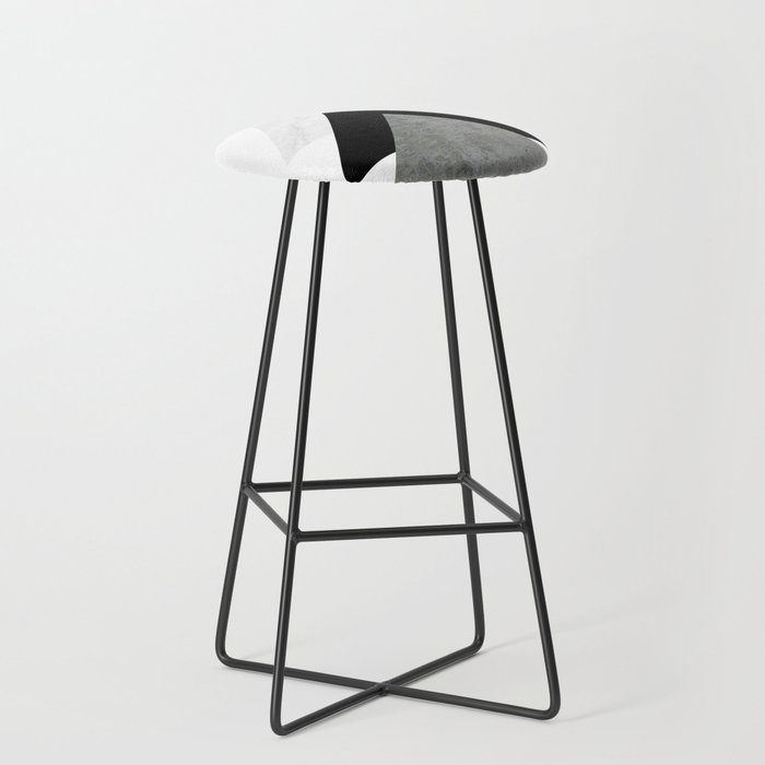 Arrows Monochrome Collage Bar Stool