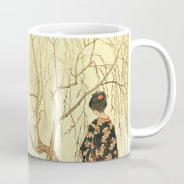 Girl under a Willow Tree by Emil Orlik - Czech Japonist Drawing Coffee Mug