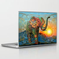 tim burton Laptop & iPad Skins featuring Elephant's Dream by Waelad Akadan