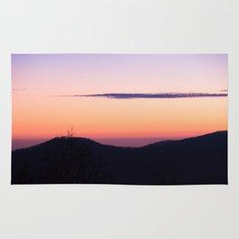 North Georgia Mountains at twilight Rug
