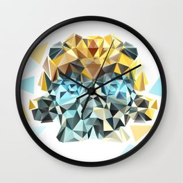 Bumblebee Low Poly Portrait Wall Clock