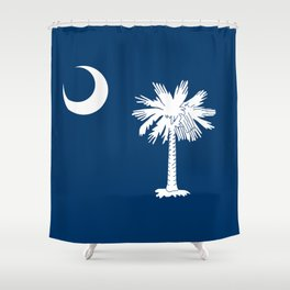 State flag of South Carolina - Authentic version Shower Curtain