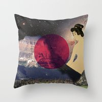 japan Throw Pillows featuring Japan by Blaz Rojs