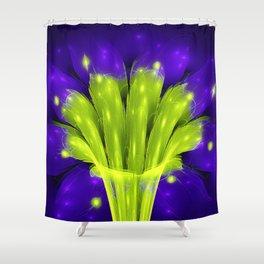 Efflorescent Vortex Shower Curtain