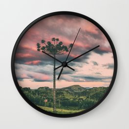 Araucaria in the Sky Wall Clock