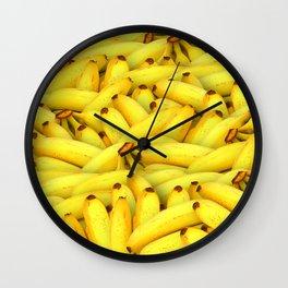 Yellow Bananas pattern Wall Clock