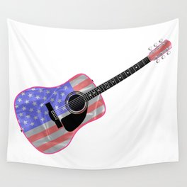 Stars and Stripes Guitar Wall Tapestry