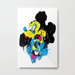 Drip Mouse Metal Print