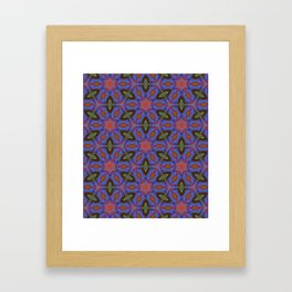 Vibrant blue hexagons Framed Art Print