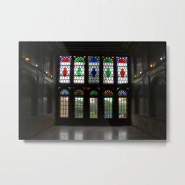 Stained Glass Windows and Doors Qavam House, Shiraz, Persia, Iran Metal Print