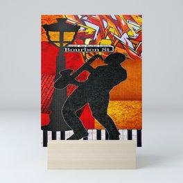 Bourbon St. Jazz Saxophone Player Mini Art Print