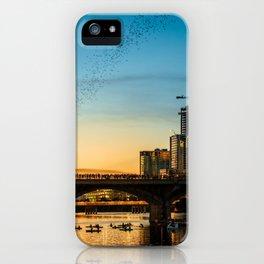 Congress Avenue Bridge Bat Watching iPhone Case