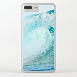 Pacific big surfing wave breaking Clear iPhone Case