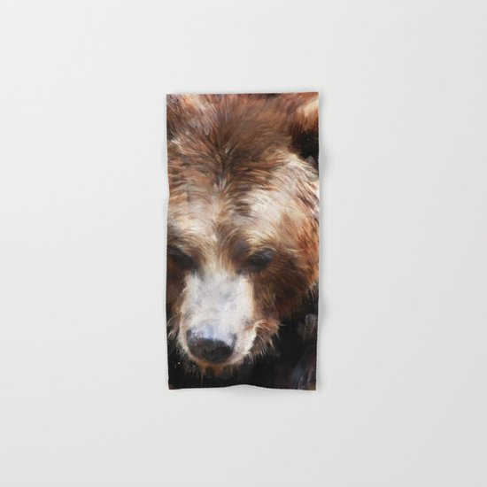 Bear // Gold Hand & Bath Towel