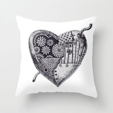 Mechanical heart Throw Pillow