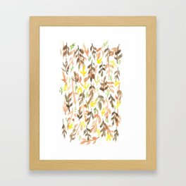 170814 Leaves Watercolour 4 Framed Art Print