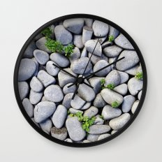 Sea Stones - Gray Rocks, Texture, Pattern Wall Clock