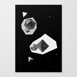 Universum / black and white Canvas Print