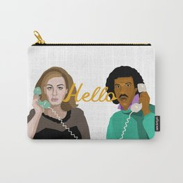 Two People Saying Hello - By Cup of Sarcasm Carry-All Pouch