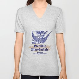 Pterrible Pterodactyls Unisex V-Neck