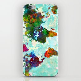 Abstract Map of the World iPhone Skin