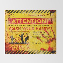 Prevent Zombie Outbreak: Wash your hands! Throw Blanket