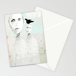 « un oiseau sur ma tête » Stationery Cards
