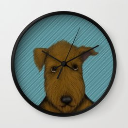 Blue Augie Wall Clock