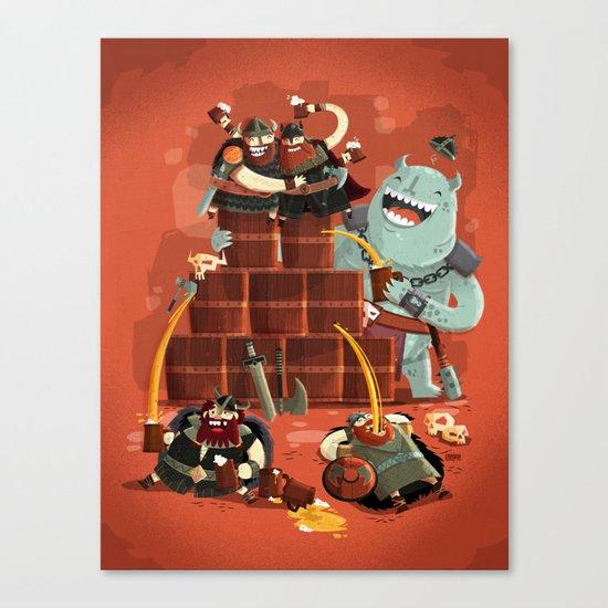 :::Drunk Vikings::: Canvas Print