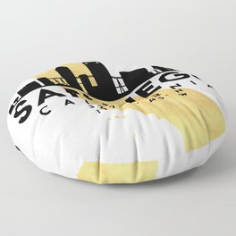SAN DIEGO CALIFORNIA SILHOUETTE SKYLINE MAP ART Floor Pillow