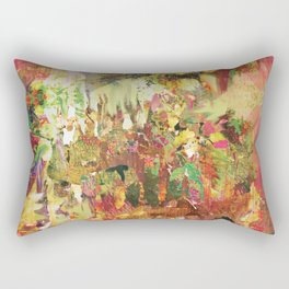 Floral Frenzy Rectangular Pillow