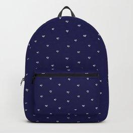 Chalk hearts on dark navy background pattern Backpack