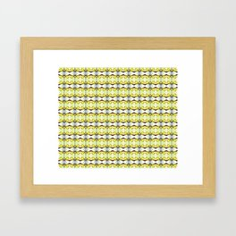 red Malus Radiant crab apple blossoms #7, yellow tint pattern Framed Art Print