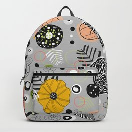 Abstract Colorful Floral Pattern Backpack