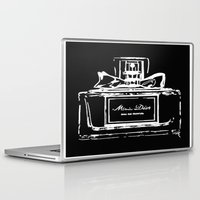 perfume Laptop & iPad Skins featuring Black Perfume by LuxuryLivingNYC