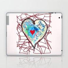 scribble heart Laptop & iPad Skin
