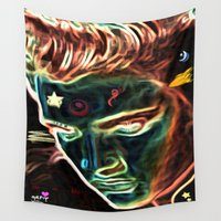 elvis Wall Tapestries featuring Neon Elvis by Geni