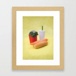 McVegetables Framed Art Print