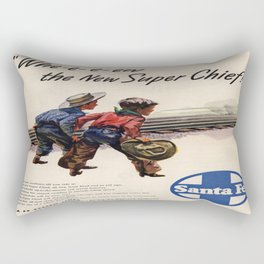 Vintage poster - Super Chief Rectangular Pillow