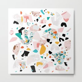 Mixed Mess I. / Collage, Terrazzo, Colorful Metal Print