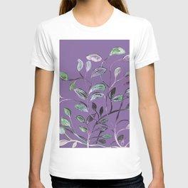 Silky Lavender Greenery Leaves T-shirt