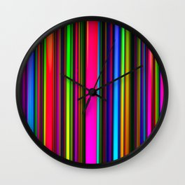 Technicolor LED Sculpture Light Painting Wall Clock