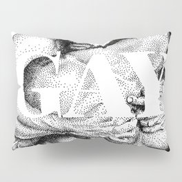 Gay Lettering Typography Pillow Sham
