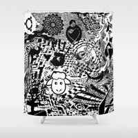 chaos Shower Curtains featuring Chaos by Cs025