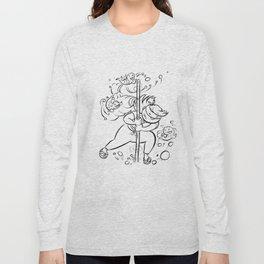Ninja Master of Water - ink Long Sleeve T-shirt