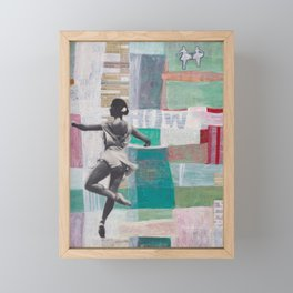 We Watched Ballet on TV Framed Mini Art Print