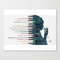 piano Canvas Prints featuring Piano by Veronika Neto