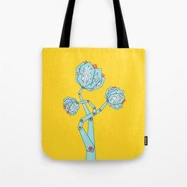 Electronic Flowers Circuit Board Petals Tote Bag